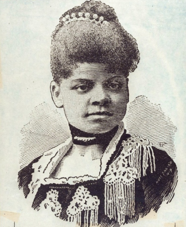 """""""Ida B. Wells, head-and-shoulders portrait, facing front."""" Library of Congress, Prints & Photographs Division, Visual Materials from the NAACP Records [LC-DIG-ppmsca-23823]. All rights reserved. Click through for source page."""